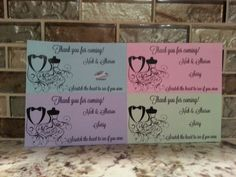 20 Wedding Scratch Off Tickets by msmemories101 on Etsy