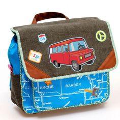 Dushi Autobus - Rugzak - Kinderen - Aquablauw