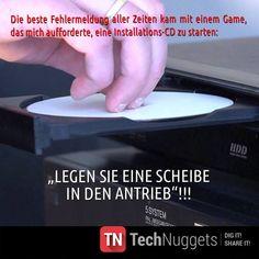 #Technuggets #Witz #PC #CD #Installation #Scheibe #Antrieb