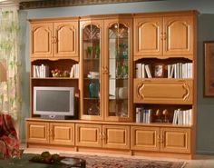 German Schrank | Details About Wall Unit,Entertain Ment Center,Light Wood  Wall Units