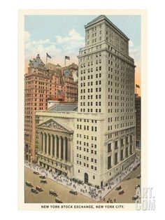 New York Stock Exchange, New York City Giclee Print at Art.com
