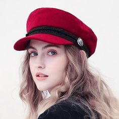 Winter Wool Beret Hat Women - Hat For Women - Ideas of Hat For Women - Winter Wool Beret Hat Women Imoost Stylish Caps, Wool Berets, Fancy Hats, Fashion Videos, Cute Beauty, Outfits With Hats, Girls Dpz, Girl With Hat, Summer Hats