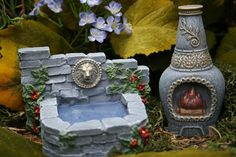 Fairy Furniture - Terrarium Garden Decor Accessories - Fountain & Chiminea. $34.99, via Etsy.