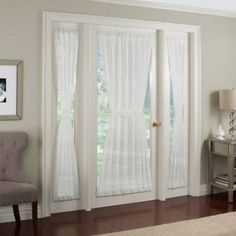 Kensington Home Fashions Crushed Voile Rod Pocket 72-inch Side Light Window Curtain Panel In White