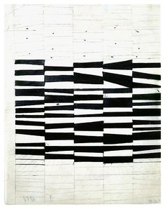 Ellsworth Kelly, Study for Cité 1951 Ink and graphite on vellum 10 1/2 x 8 inches; 27 x 20.5 cm Works in Exhibition - Matthew Marks Gallery