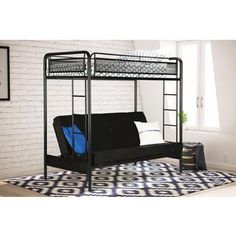 dhp rockstar twin over futon bunk bed   the dhp rockstar twin over futon bunk bed is one dreamy set up  you get a top bunk bed and a lower futon that     bedroom how to assemble a futon bunk bed metal with futon bunk bed      rh   pinterest