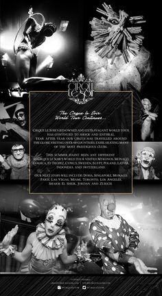 Cirque le Soir World Tour - Newsletter