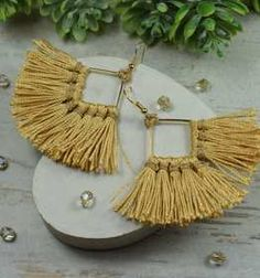 Kolczyki ze sznurka ręcznie robione | Sklep internetowy Handmade Mała Fabryczka Malaga, Tassel Necklace, Earrings, Jewelry, Ear Rings, Stud Earrings, Jewels, Schmuck, Jewerly