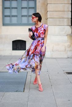 @roressclothes clothing ideas #women fashion colorful summer  dress