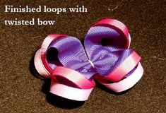 How to make surrounding loops on bows