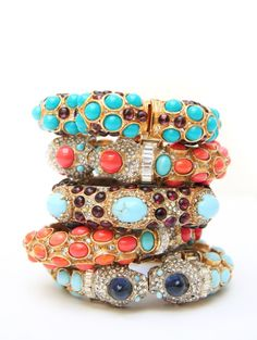 Kenneth Jay Lane stacked bangles
