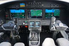 Cockpit and instrument panel of a Cessna Citation M2. Garmin 3000 avionics. #jet #airplane