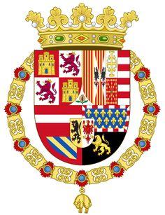 Coat of Arms of Philip II of Spain (1558-1580) - Wappen Spaniens