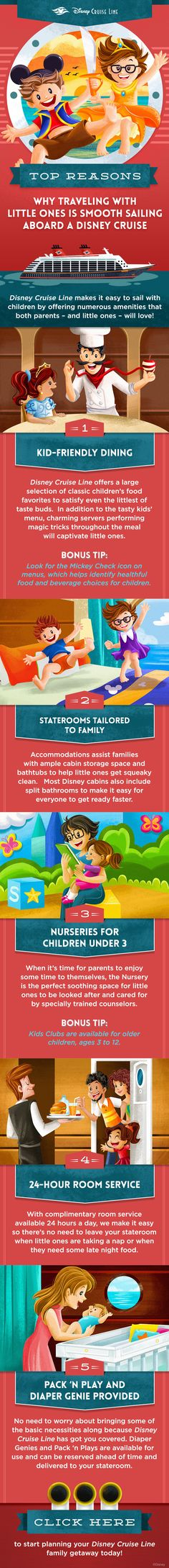 Disney Cruise Line makes it easy to sail with children by offering numerous amenities that both parents - and little ones - will love! Here are some top reasons why traveling with little ones is smooth sailing aboard a Disney Cruise! Best Cruise, Cruise Tips, Cruise Vacation, Disney Destinations, Disney Vacations, Disney Travel, Family Vacations, Disney Cruise Line, Walt Disney World