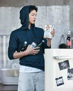 For Song Joong Ki's previously released spreads from Marie Claire Korea's June 2016 edition, go here: Cover shot batch of interior spreads batch of interior spreads &nbsp… Song Joong Ki, Song Hye Kyo, Park Hae Jin, Park Seo Joon, Descendants, Asian Actors, Korean Actors, Korean Celebrities, Celebs