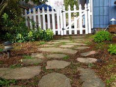 well worn simple stone path