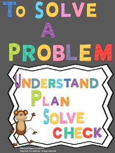 FREE - Problem Solving Poster For Students A great freebie for the classroom. #free   #problemsolving   #math