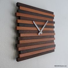 Clock Wall Hanging  Reclaimed Wood Modern Decor Contemporary on Etsy, $109.23 AUD