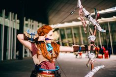 Cosplayer: Mithrilneth Cosplay Photographer: Blooloon Cosplay Photography  #horizonzerodawn #cosplay #aloy