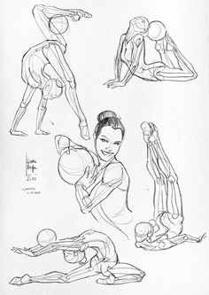 Laura Braga - Anatomical studies and sketches