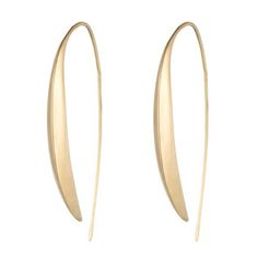 Gold Marquis Kidney Wire Earring in 18k Gold