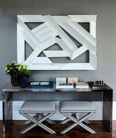 Referência da cor dessa linda parede cinza no projeto da Triplex Arquitetura.