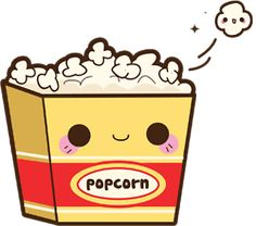 Kawaii popcorn #Kawaii #Draw #Illustration