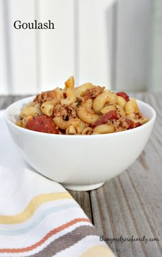 An easy, family favorite Goulash recipe that screams comfort.