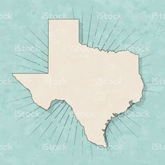 Map of Texas in a trendy vintage style. Map Vector, Free Vector Art, Vintage Style, Retro Vintage, Vintage Fashion, Retro Illustration, Paper Texture, Maps, Royalty