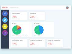 Social Media Dashboard UI by Danfe Designs