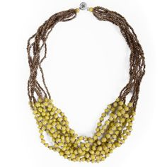 ONE Sunday Frill Necklace. This product was produced by 31 Bits, a business using fashion and design to empower women to rise above poverty. Their jewelry is made from recycled paper by women in Northern Uganda.