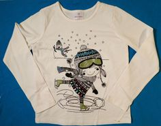 NWOT $28 Girls Size 130 (7-10 US) Hanna Andersson Sparkle Long Sleeve T Shirt