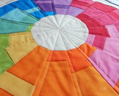 Beautiful color wheel by Ellison Lane Quilts! I need to make something like this.