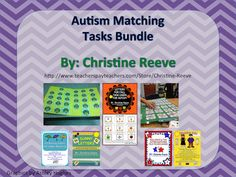 This bundle combines 9 common-core aligned existing products offered at a reduced price to teach basic skills in early childhood or children with autism and other special needs including colors, numbers and letters. Currently this bundle includes 42 file folder activities, 148 matching letter task cards, 26 pictures and matching letter task cards, 18 seasonal vocabulary (fall) task cards and 80 number task cards. $23
