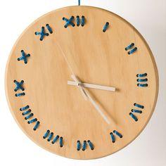 Stitched clock