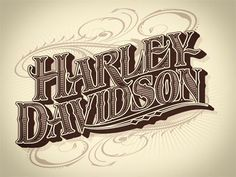 Harley- davidson Lettering Stencils