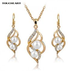 TOUCHEART Simulated Pearl Indian Wedding Jewelry Sets for Women Bridal Crystal Gold color Earrings Statement Necklaces  TOUCHEART Simulated Pearl Indian Wedding Jewelry Sets for Women Bridal Crystal Gold color Earrings Statement Necklaces  Indian Jewelry Sets, Indian Wedding Jewelry, Wedding Jewelry Sets, Wedding Accessories, Jewelry Accessories, Ethnic Jewelry, Fashion Accessories, Trendy Accessories, Cheap Jewelry