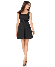 Spense Petite Dress, Twisted Back Belted Dress - Womens Petite Dresses - Macy's