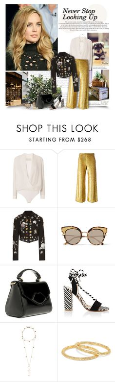"""""""Never Stop Looking Up"""" by thewondersoffashion ❤ liked on Polyvore featuring Michelle Mason, Ashish, Dolce&Gabbana, Bottega Veneta, Lulu Guinness, Gianvito Rossi, Arme De L'Amour and Carolina Bucci"""