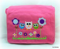 Kindergartentasche Rucksack Eulen von Die Stilerbse auf DaWanda.com