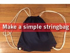 Learn how to make a simple stringbag. Oversized stringbag. Gym bag, grocery bag. Full tutorial available at My Grandmother's Bernina Blog. Simple sewing projects.