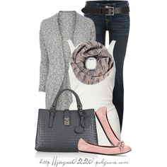 """""""Gray and Light Pink"""" by jaycee0220 on Polyvore"""