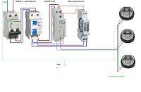 Esquemas eléctricos: maniobra reloj con contactor luces exteriores