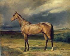 Abdul Medschid the chestnut arab horse, 1855 Wall Art by Carl Steffeck from Great BIG Canvas.