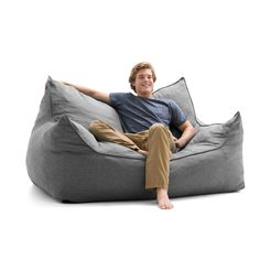 Big Joe Lux Imperial Fuf-ton Bean Bag Loveseat | Overstock.com Shopping - The Best Deals on Bean & Lounge Bags