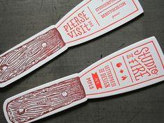 Letterpress Die Cut Studio On Fire Ink Paint Palette Knife Business Card / Promo