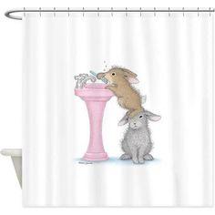 bunny shower curtain - Google Search Bathroom Light Fixtures, Bathroom Faucets, Bathroom Lighting, Holiday Shower Curtains, Fabric Shower Curtains, Best Bathroom Scale, Bathroom Rugs, Fabric Decor, Innovation