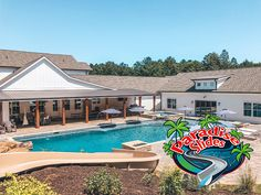 Wow, that view is stunning! Here is a Paradise Slides, Inc. #PoolSlide model PS45L-S in SAND. That Farmhouse is not to shabby either, it looks GREAT! @farmhousebysoutherncharmdesign Water Slides, Pool Slides, Can Design, Looks Great, Swimming Pools, Paradise, Shabby, Farmhouse, Backyard