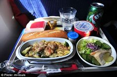 This Air France economy meal does at least come with silverware