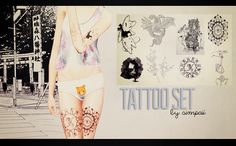 Sims 3 tattoos // pinning this because I'm really bored of all the tattoos my sims have to choose from.